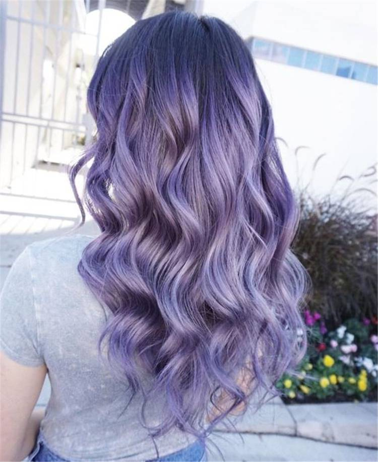 Must Have Purple/Lilac Hair Color & Style Ideas; Purple Hair Color; Purple Hairstyles; Lilac Hair Color; Lilac Hairstyles; Dark Purple; Ombre Purple; Dark Hair Color; Dark Hairstyles; Ombre Purple Hair Color; Ombre Purple Hairstyles;