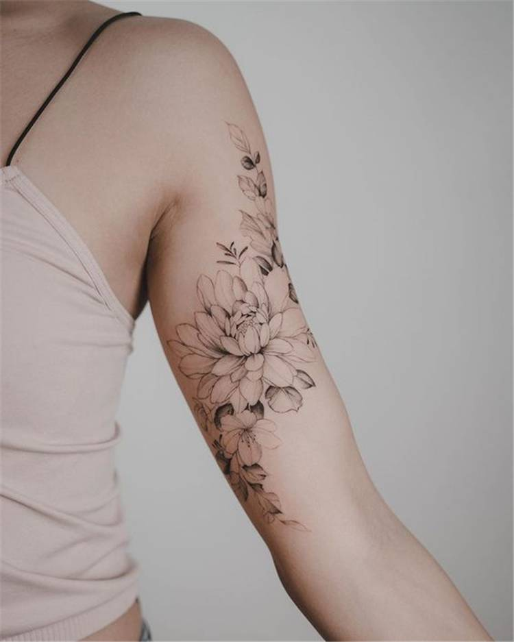 50 Chic And Sexy Arm Floral Tattoo Designs You Must Know Women Fashion Lifestyle Blog Shinecoco Com