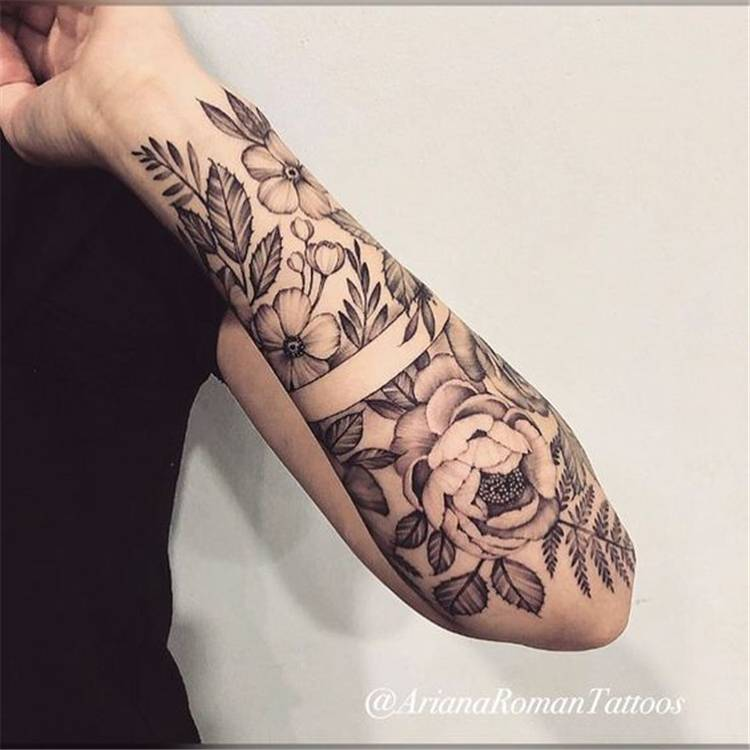 50 Chic And Sexy Arm Floral Tattoo Designs You Must Know Women