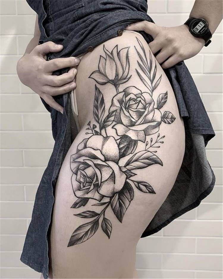 Gorgeous And Sexy Hip Thigh Floral Tattoo Designs You Will Love; Popular And Sexy Floral Hip Tattoo Designs; Hip Tattoo Designs; Hip Tattoo; Popular Hip Tattoo; Sexy Hip Tattoo; Floral Tattoo; Floral Hip Tattoo;Tempting And Attractive High Thigh Floral Tattoo Designs For You; High Thigh Floral Tattoo; High Thigh Tatttoo; Floral Tattoo; High Thigh Floral; Floral Tattoo Design; Attractive High Thigh Floral Tattoo; Sexy Floral Tattoo; #highthightattoo #hiptattoo #floraltattoo #flowertattoo #rosetattoo #hipfloraltattoo