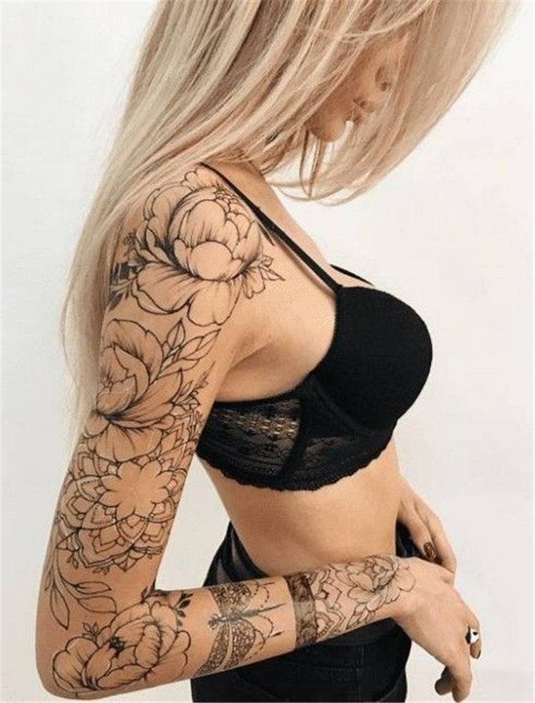 Gorgeous And Stunning Sleeve Floral Tattoo To Make You Stylish; Awesome Sleeve Tattoos; Sleeve Tattoos; Sleeve Tattoos For Women; Arm Tattoos; Arm Sleeve Tattoo; Floral Sleeve Tattoo; Inspirational Sleeve Tattoos; Sleeve; Floral Tattoo; Floral Sleeve; #sleevetattoo #sleeve #tattoo #floraltattoo #sleevefloraltattoo