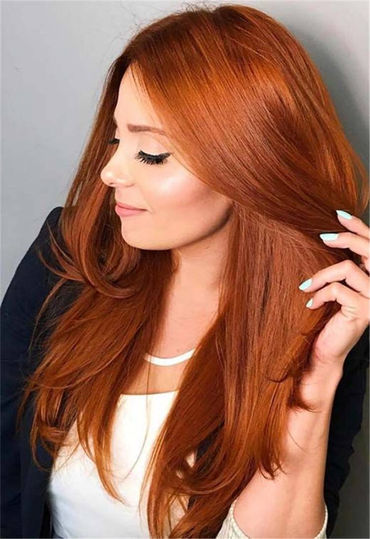 Gorgeous Ginger Copper Hair Colors And Hairstyles You Should Have In Winter; Winter Hairstyle; Winter Red Hair; Red Hair; Ginger Hair; Red Hair Color And Style; Red Hair Color; Red Hair Style; Giner And Red Hair Color; Best Winter Hairstyle; #winterhair #winterhaircolor #haircolor #hairstyle #gingerhaircolor #redhaircolor #gingercopper #ginger #red