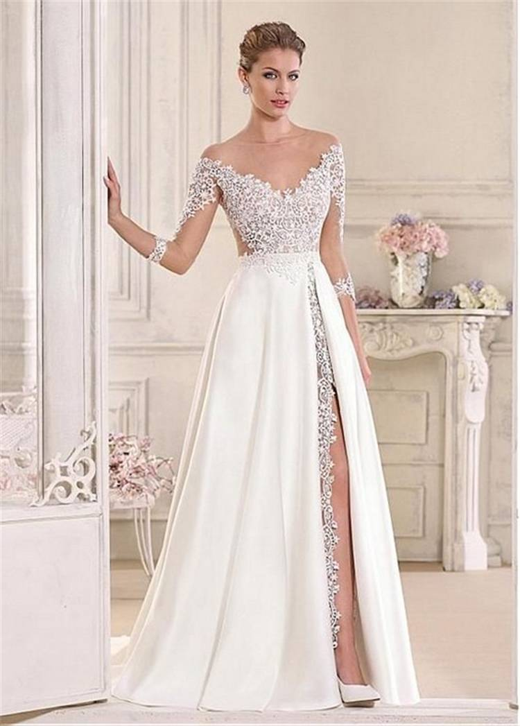 Gorgeous And Charming Fall/Winter Wedding Dresses You Would Love To Have; Gorgeous Wedding Dress; Breath Taking Wedding Dress; White Wedding Dress; Brand Wedding Dress; Off The Shoulder Lace Wedding Dresses; Lace Long Sleeves Wedding Dress; Fall Wedding Dress; Winter WeddingDress; #winterdress #winterweddingdress#weddingdress #fallweddingdress