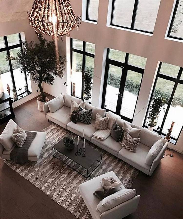 Modern And Comfortable Living Room Decoration Ideas You Must Try; Winter Living Room; Living Room Decoration; Living Room; Winter Living Room Decoration Ideas; #livingroom #livingroomdecoration #decor