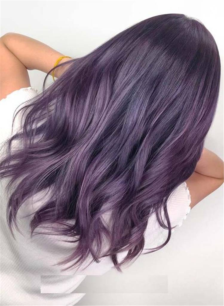 Must Have Purple/Lilac Hair Color & Style Ideas; Purple Hair Color; Purple Hairstyles; Lilac Hair Color; Lilac Hairstyles; Dark Purple; Ombre Purple; Dark Hair Color; Dark Hairstyles; Ombre Purple Hair Color; Ombre Purple Hairstyles; #purplehair #hairstyle #lilachair #purplehairstyle #purplehaircolor #lilachairstyle