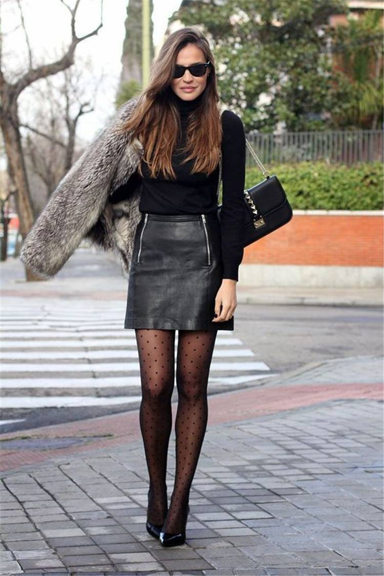 Leather Dresses In Spring And Winter; Leather Dresses Outfits; Leather Dress; Leather Dress In Spring; Spring Outfits; Outfits; Winter Outfits; Leather Dress In Winter; #winteroutfits #springoutfits #outfits #leatherdress #leatherdressoutfits