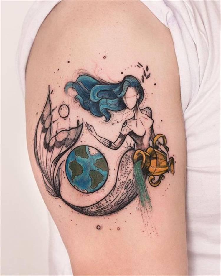 Beautiful Mermaid Tattoo Ideas For Your Mermaid Dream; Mermaid Tattoo Ideas; Mermaid Tattoo; Mermaid; Watercolor Mermaid Tattoo Ideas; Black And White Mermaid Tattoo Ideas; #tatttoo #tattooideas #mermaidtattoo #mermaidtattoodesign