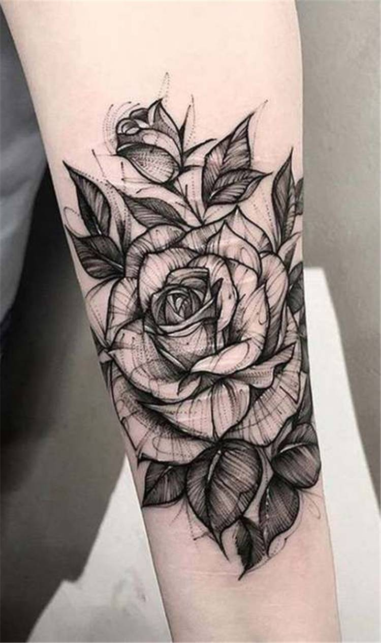Trendy Rose Tattoo Designs For Your Desire About Floral Tattoo; rose tattoo; tattoo design; floral tattoo; trendy tattoo; rose flower tattoo; floral tattoo design; #tattoo #rosetattoo #floraltattoo #tattoodesign
