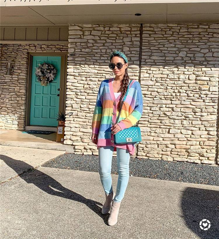 Spring Sweater; Sweater; Spring Season Outfits; Outfits; Spring Outfits; Sweater Season; Colorful Sweater; #sweater #springsweater #springoutfits #outfits