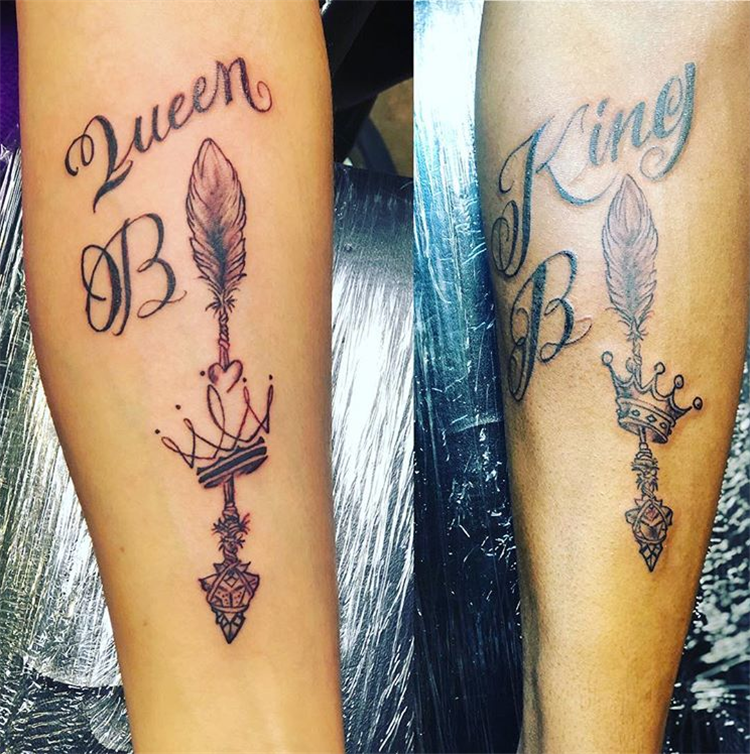 Creative And Unique Couple Matching Tattoo Designs For The Coming Valentine's Day ; Couple Tattoo Ideas; Couple Tattoos; Matching Couple Tattoos;Simple Couple Matching Tattoo;Tattoos; Valentine's Day; Valentine's Tattoo#valentine's#valentine'stattoo#Tattoos#Coupletattoo#Matchingtattoo