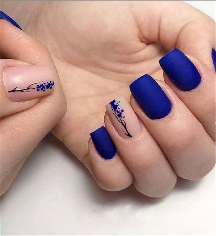 Gorgeous And Lovely Spring Square Nail Designs For You; Spring Nails; Nails; Square Nails; Spring Square Nails; Lovely Nails; Nail Art; #springnails #nails #squarenails #springsquarenails