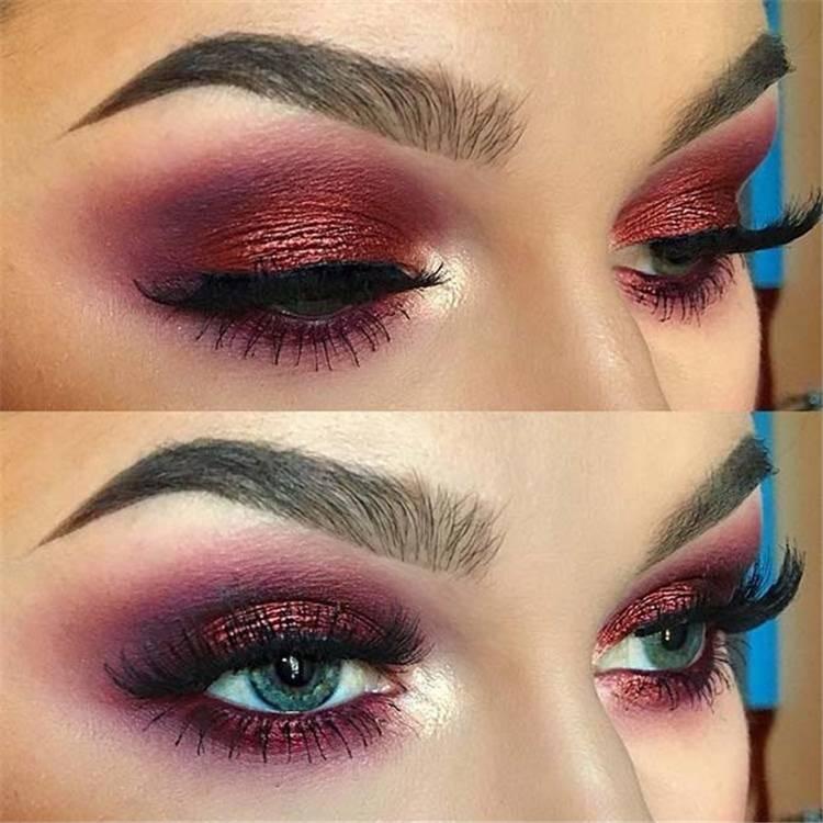 Stunning And Gorgeous Summer Makeup Ideas For Your Inspiration In 2020; Makeup Ideas; Makeup; Summer Makeup; Summer Makeup Ideas; Colorful Makeup; Shimmer Makeup; Eye Makeup #makeup #eyemakeup #summermakeup #makeupidea