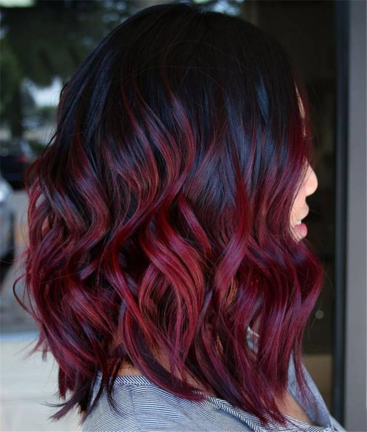 Gorgeous Shades Of Burgundy Hair Colors For Your Inspiration; Hair Shades; Burgundy Hair; Burgundy Hair Color; Burgundy Hair Designs; Burgundy; Burgundy Color; Woman Hair Color; Chic Hair Color; Gorgeous Hair Color;#haircolor#burgundyhaircolor#burgundycolor#burgundyhair#hairstyle#chichairstyle
