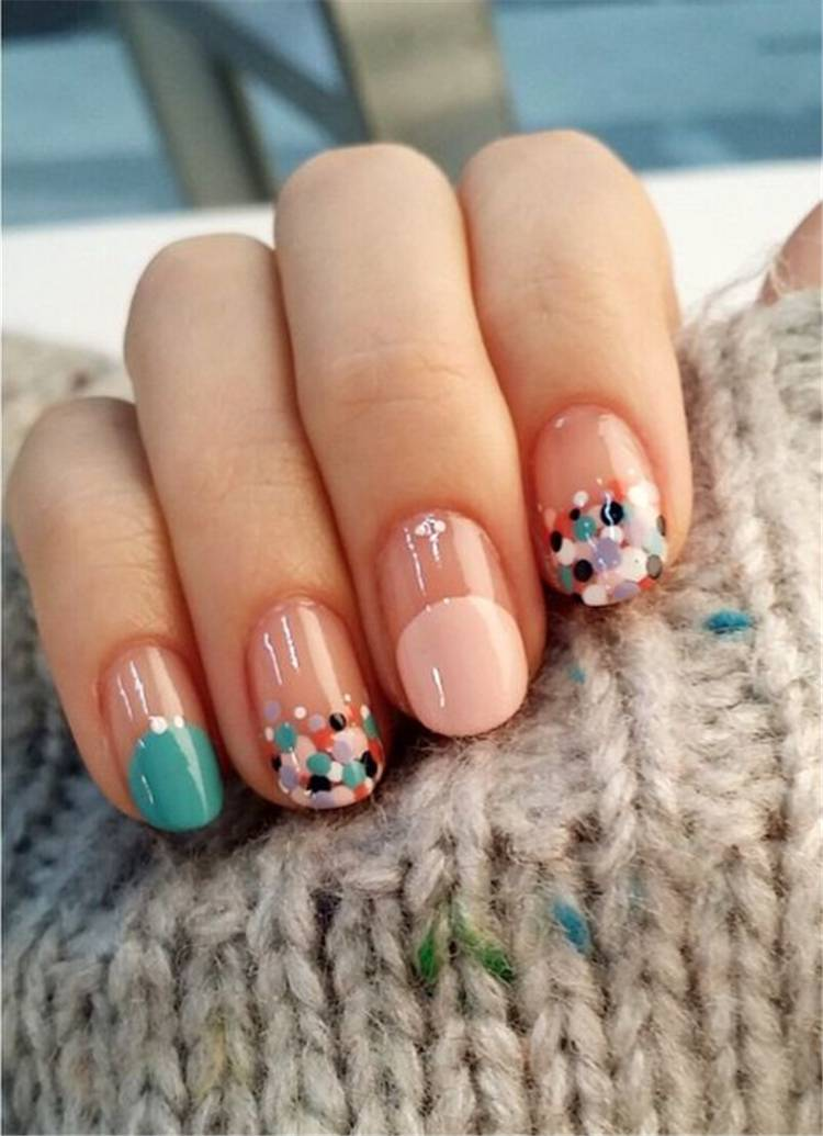 Lovely Floral Spring Nail Designs To Celebrate The Year's Best Season; Spring Nails; Lovely Nails; Nails; Square Nails; Nail Design; Flower Nails; #nails #springnail #flowernails #squarenail #naildesign