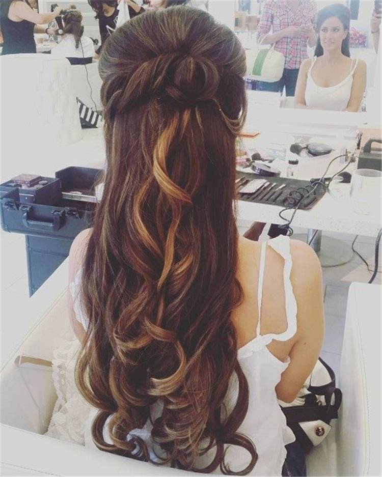 Ideas For Half Up Half Down Wedding Hairstyles;Prom/Hoco Hair;Wedding Updo Hairstyles; Braid Styles For Long Or Medium Length Hair; Easy Hairstyles For Women;Half Down Half Up Hairstyle;Elegant Wedding Hairstyle; #weddinghair #weddinghairstyle #promhair #hairstyle #halfuphalfdown #updohairstyle