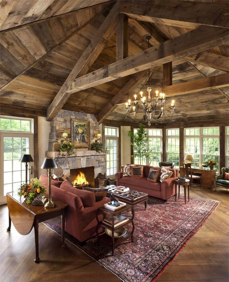 Rustic Living Room Decoration Ideas To Make It More Comfortable; Living Room; Home Decor; Rustic Interior; Rustic Decor Idea; Decor Idea; Rustic Farmhouse Decor; Interior Home Decor; #rusticinterior #rustichomedecor #homedecor #rusticdecor #livingroom