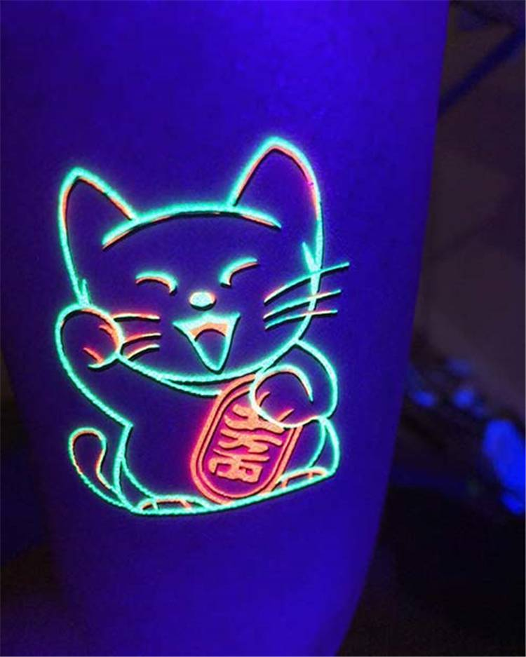 Amazing UV Tattoo Designs To Make Your Day Brighter; UV Tattoo; Tattoo; Tattoo Design; UV; Shining Tattoo #UV #UVtattoo #tattoo #tattoodesign