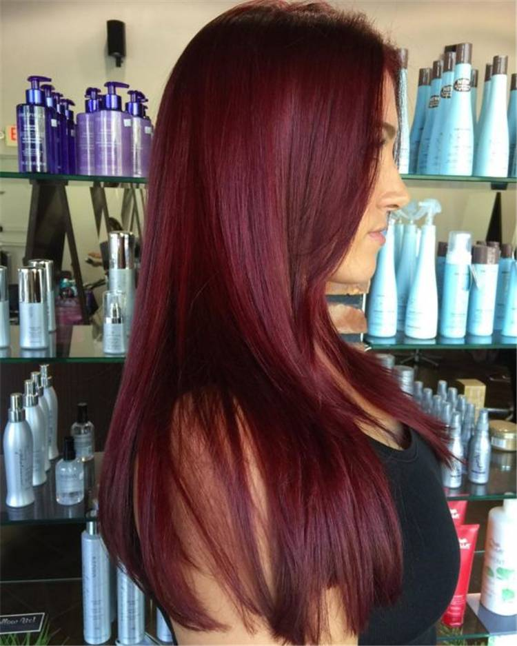 Gorgeous Shades Of Burgundy Hair Colors For Your Inspiration; Hair Shades; Burgundy Hair; Burgundy Hair Color; Burgundy Hair Designs; Burgundy; Burgundy Color; Woman Hair Color; Chic Hair Color; Gorgeous Hair Color; #haircolor #burgundyhaircolor #burgundycolor #burgundyhair #hairstyle #chichairstyle