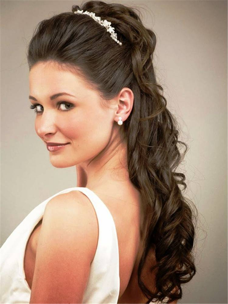 30 Ideas For Half Up Half Down Wedding Hairstyles - Women ...