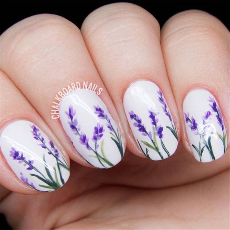 Gorgeous And Lovely Spring Nail Designs You Would Love; Spring Nails; Lovely Nails; Nails; Square Nails; Nail Design; Flower Nails; #nails #springnail #flowernails #squarenail #naildesign