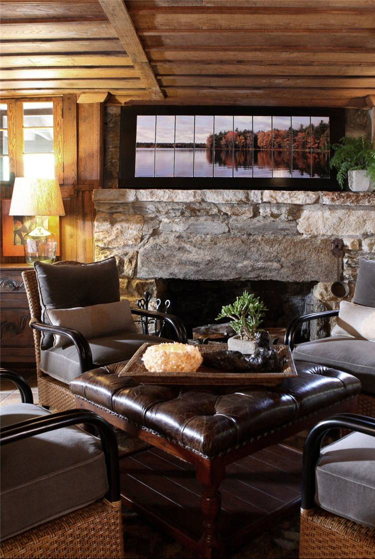 20 Rustic Living Room Decoration Ideas To Make It More ...