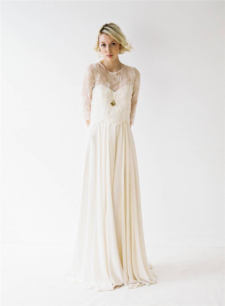 Gorgeous Wedding Dresses For The Perfect Summer Brides; White Wedding Dress; Brand Wedding Dress; Off The Shoulder Lace Wedding Dresses; Lace Long Sleeves Wedding Dress; Summer Wedding Dress; Gorgeous WeddingDress;#summerdress#summerweddingdress#weddingdress#gorgeousweddingdress