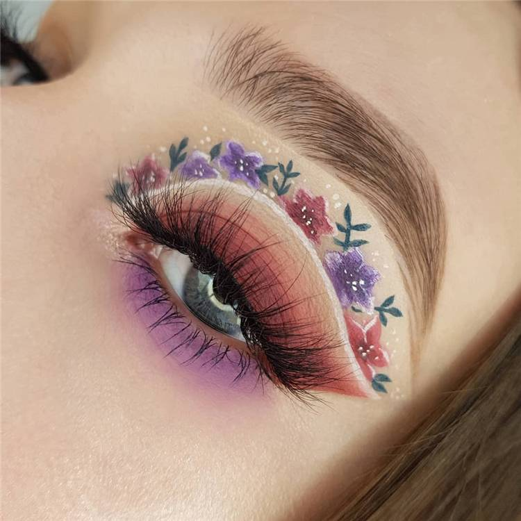 Trendy And Gorgeous Spring Makeup You Should Copy ASAP; Spring Makeup; Trendy Makeup; Gorgeous Makeup; Spring Eye Makeup; Spring Makeup Ideas; #makeup #springmakeup #gorgeousmakeup #trendymakeup