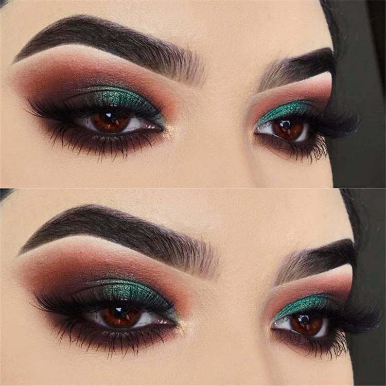 Perfect Eye Shadows Makeup Ideas For Different Eye Colors; Makeup Ideas; Makeup; Eye Shadow Makeup; Summer Makeup Ideas; Colorful Makeup; Shimmer Makeup; Eye Makeup#makeup#eyemakeup#summermakeup#makeupidea