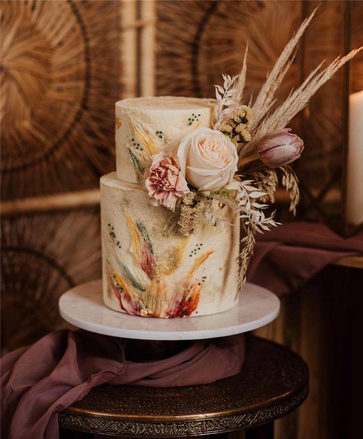 Trendy And Gorgeous Wedding Cake For Your Wedding Fantasy 2020; Wedding Cakes; Floral Wedding Cakes; Floral Cakes; Romantic Cakes; Fondant Wedding Cake; Cheese Wedding Cake; Nude Wedding Cake; Buttercream Wedding Cake;#weddingcake #floralweddingcake #cake #weddingart #fondantcake #cheesecake #nudecake #buttercreamcake