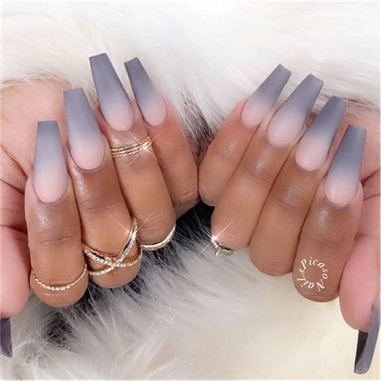 The Most Beautiful Ombre Acrylic Nails Designs You'll Like; Baby Boomer; Coffin Nails; Ombre Nails; Acrylic Nails; Ombre Acrylic Nails; Beautiful Ombre Acrylic Nails Designs; French Fade Nails; Nude Ombre Nails; Colorful Ombre Nails; Bright Ombre Nails; #nailart #ombrenail #ombreacrylicnail #arcylicnails #coffinnails