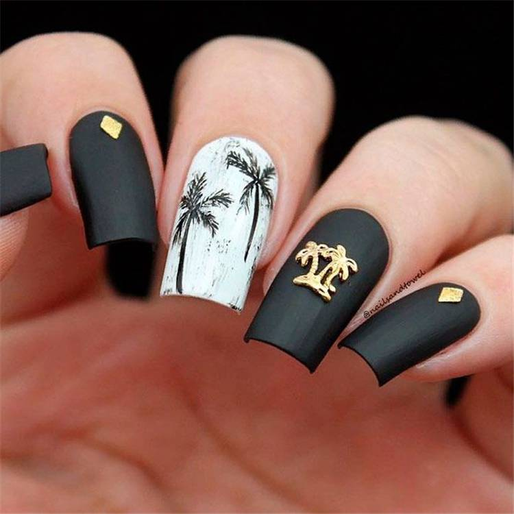Stunning Tropical Nail Ideas For You To Rock The Summer; Summer Nails; Summer Nail Designs; Cute Nails; Gorgeous Nails; Cute Summer Nails; Tropical Nails; #nail #summernail #cutenail #summernaildesign #gorgeousnail#tropicalnails