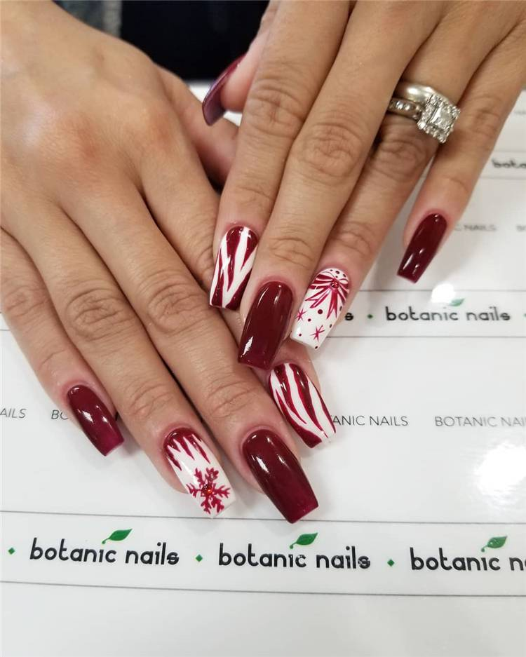 Stunning Burgundy Nail Designs To Make Your Summer Sexy; Burgundy Nails; Nails; Nail Design; Burgundy Nail Color; Nail Color; Burgundy Summer Nails; #nails #naildesign #burgundynail #burgundynaildesign #burgundycolor
