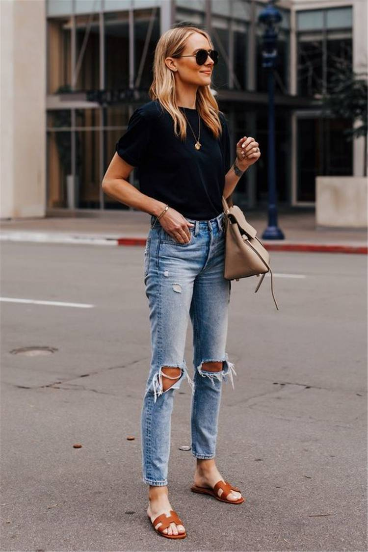 Trendy And Casual Summer Outfits You Can't Miss; Summer Outfits; Outfits; Trendy Outfits; Summer Shorts; Summer Dress; Summer Jeans; #summeroutfits #outfits #summerjeans #trendyoutfits