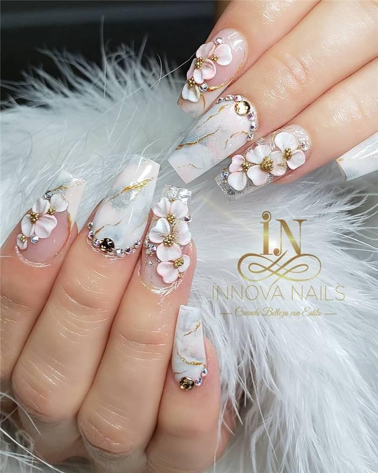 Fantastic Marble Nail Designs You Should Know; Marble Nail; Marble Square Nail; Square Nail; Stylish Marble Square Nail; Marble Nail Art;#nailart#marblenail#marblenaildesign#squarenail#squarenaildesign#naildesign#nail