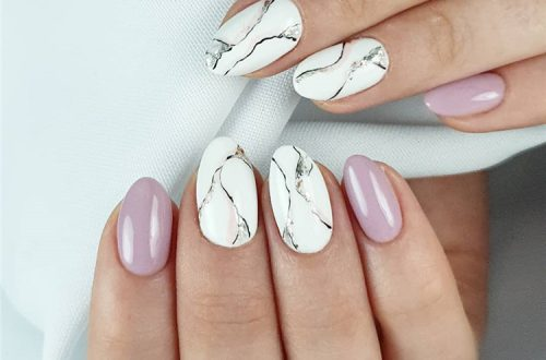 Fantastic Marble Nail Designs You Should Know; Marble Nail; Marble Square Nail; Square Nail; Stylish Marble Square Nail; Marble Nail Art; #nailart #marblenail #marblenaildesign #squarenail #squarenaildesign #naildesign #nail