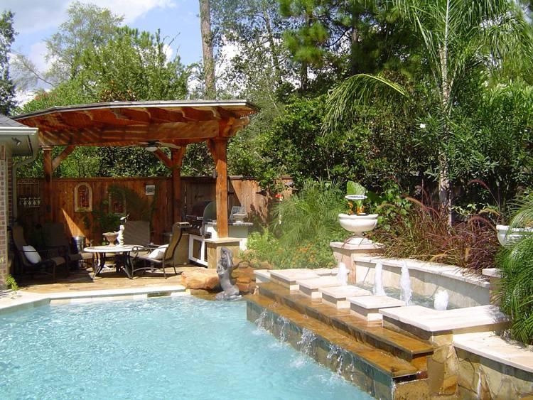 Gorgeous Pool Courtyard Design Ideas For Your Inspiration; Pool Design; Courtyard Design; Pool Courtyard Design; Yard Design; Backyard Renovation; DIY Pool; DIY Courtyard; #courtyard #pool #backyardpool #poolcourtyarddesign #futureyard #budgetyard #diypool #diycourtyard #backyardrenovation