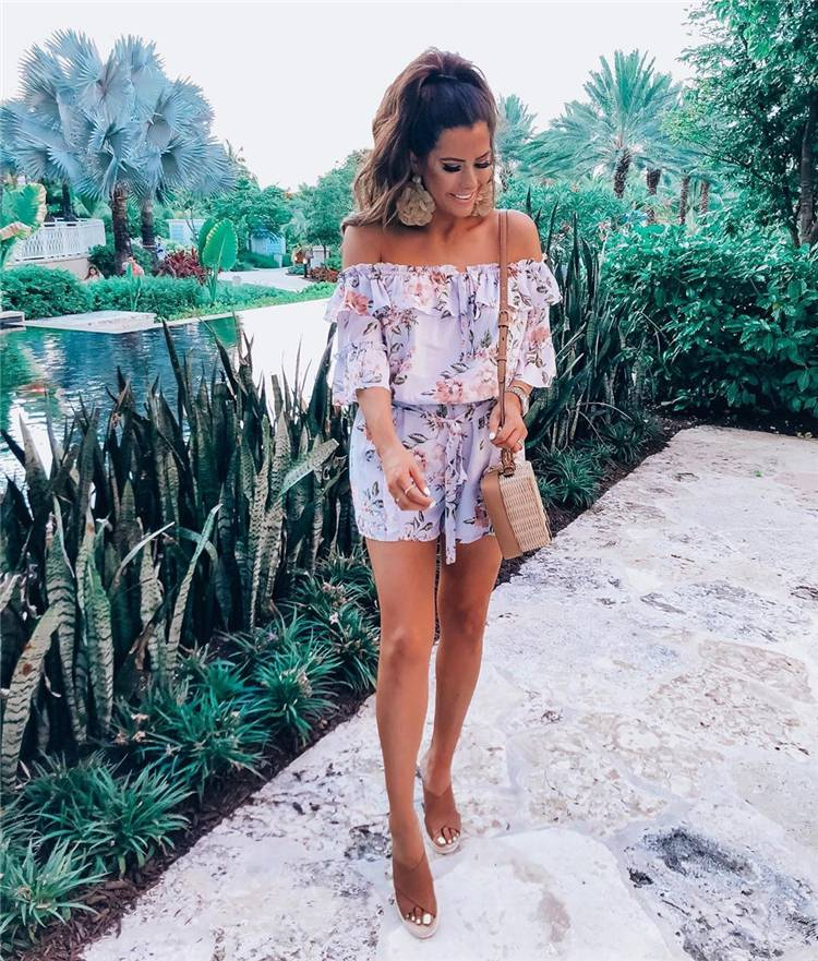Trendy And Gorgeous Off-The-Shoulder Dresses You Must Have; Summer Dress; Off-The-Shoulder Dress; Dress; One-Piece Dress; White Dress; Printed Dress; Long Dress; Off The Shoulder Dress; #offtheshoulder #offtheshoulderdress #summerdress #dress