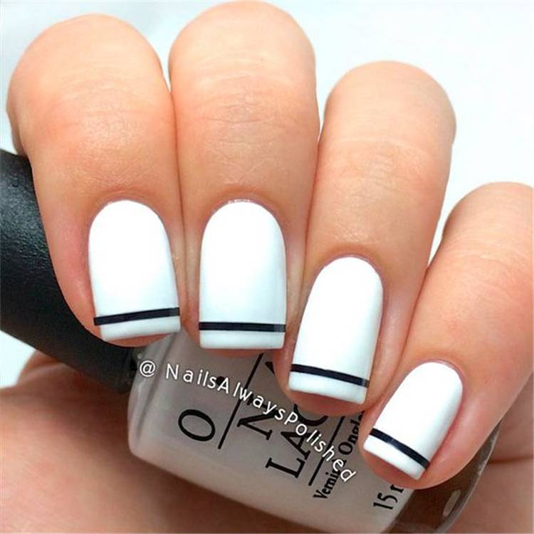 Stylish Black And White Nail Art Designs You Need To Copy ASAP; Stylish Black And White Nail Art Designs; Stylish Black And White Nail; Black And White Nail; Nail Art Designs; Black And White Nail Art Designs; #nail #nailart #blackandwhitenail #blacknail #whitenail