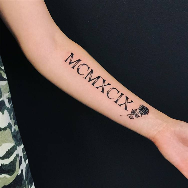 Simple And Cool Roman Numeral Tattoos Designs You Must Love; Roman Numeral Tattoo; Numeral Tattoo; Tattoo; Tattoo Designs; Simple Roman Numeral Tattoo; Cool Roman Numeral Tattoo; #romannumeraltattoo #tattoo #tattoodesign #romantattoo #numeraltattoo #numbertattoo #simpletattoo
