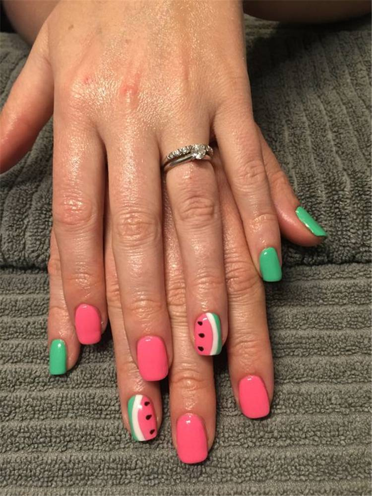 10 Cute And Fresh Watermelon Nail Designs You Should Try This Summer Women Fashion Lifestyle Blog Shinecoco Com