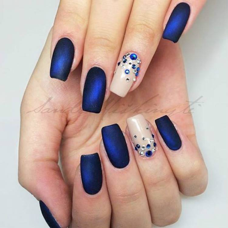 Amazing And Pretty Blue Nail Designs You Desire To Have; Blue Nails; Summer Nails; Square Nail; Coffin Nail; Stiletto Nail; Cute Nails; Blue Square Nail; Blue Coffin Nail; Blue Stiletto Nail; #nails #bluenails #bluesummernail #summernails #coffinnails #stilettonails #squarenails