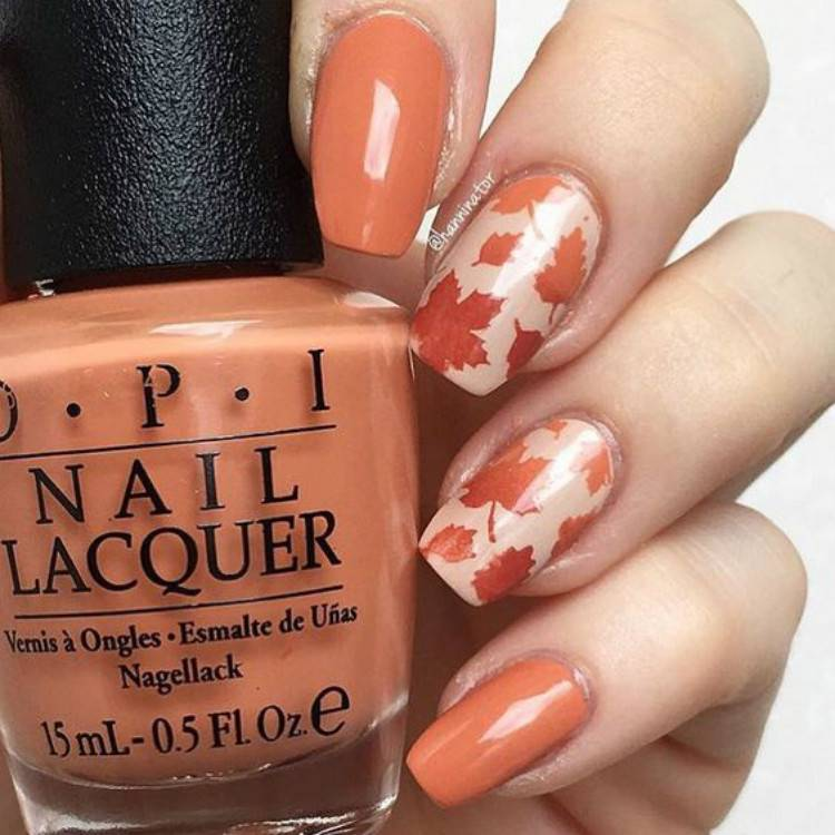 Pretty Fall Leaf Nail Designs You Must Try;Fall Nail; Autumn Nail; Fall leaf Nail Design; leaf Nail Design; Fall leaf Square Nail; Fall leaf Coffin Nail; Fall leaf Almond Nail; Fall leaf Stiletto Nails; Nails; Fall leaf Nail Color #fallnail #fallleafnaildesign #autumleafnnail #nail #falllongnails #fallsquarenail #fallstilettonail #fallcoffinnail #coffinnail #leafnail