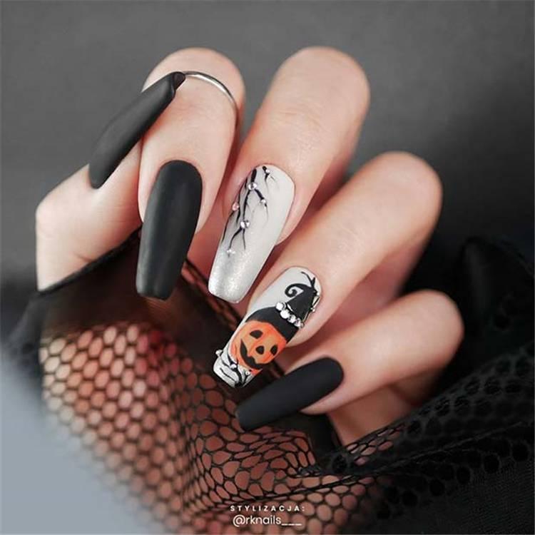Amazing And Gorgeous Halloween Nail Designs You Need To Follow; Coffin Nail; Acrylic Coffin Nail; Nail; Nail Design; Halloween Nail; Halloween Nail Design; Halloween Scary Nail; Ghost Nail; Pumpkin Nail; Spider Nails #squarenail#shortsquarenail#nail#naildesign#halloweennail#scaryhalloweennail#ghostnail#pumpkinnails#skullnails