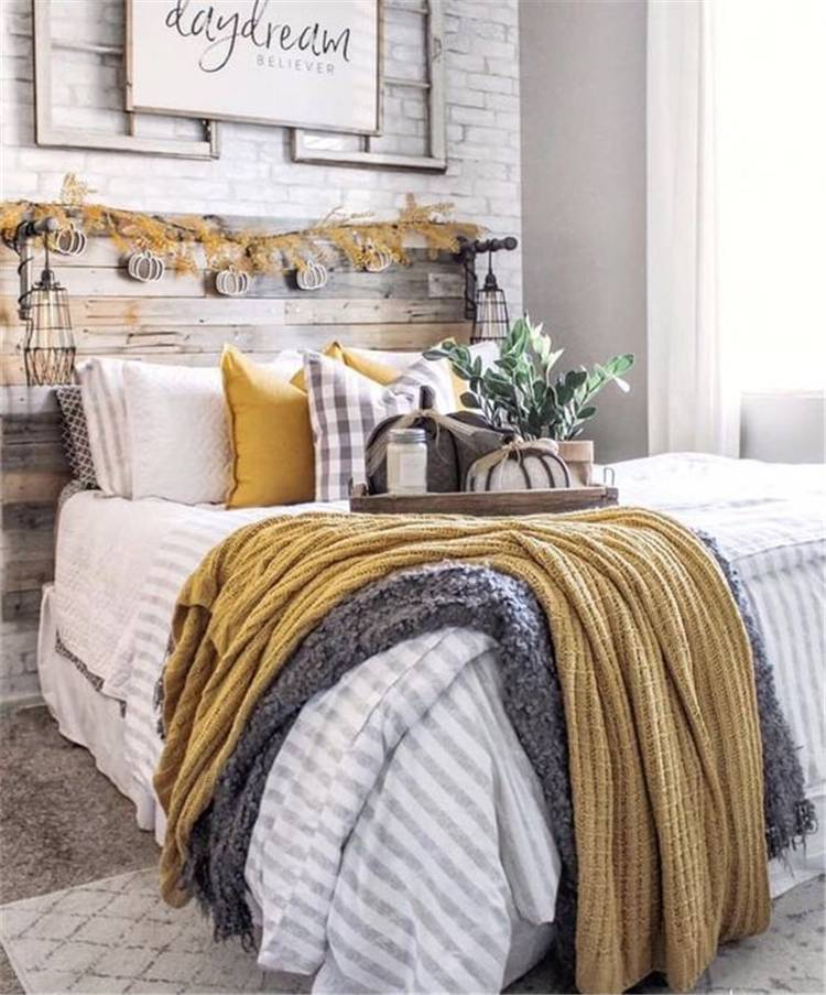 Gorgeous Fall Bedroom Decoration Ideas You Would Dream To Have; Fall Bedroom; Fall Bedroom Decoration; Bedroom Decor; Bedroom Arrangement; Bedroom Paint Color; Bedroom Color; Bedroom Design; #fallbedroom #fallbedroomdecoration #bedroomdecor #bedroompaint #bedroomcolor #bedroomdesign #bedroomarrangement #rusticbedroom #coastalbedroom #modernbedroom #minimalistbedroom #bohobedroom
