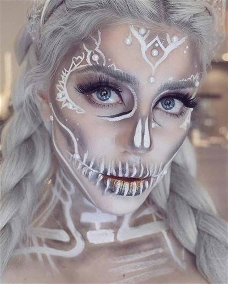 Sexy Halloween Makeup Ideas You Would Obsessed With; Halloween Makeup; Halloween; Spider Halloween Makeup; Skull Halloween Makeup; Leopard Halloween Makeup; #halloween #halloweenmakeup #makeup #scarymakeup #skullmakeup #leopardmakeup #spidermakeup