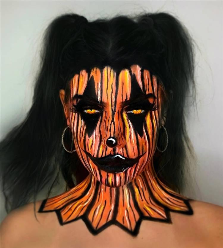 Scary And Creepy Halloween Makeup Ideas You Must Follow; Halloween Makeup; Halloween; Clown Halloween Makeup; Dolly Halloween Makeup; Pumpkin Halloween Makeup;Demon Halloween Makeup;#halloween#halloweenmakeup#makeup#scarymakeup#demonmakeup#clownmakeup#pumpkinmakeup