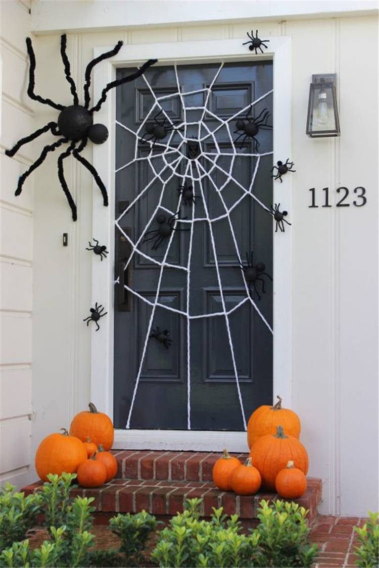 Amazing Front Porch Halloween Decoration Ideas You Must Love; Halloween; Halloween Decor; Halloween Front Porch; Front Porch Decor; Halloween Front Porch Decor; Home Decor; Spider Halloween Decor; Skeleton Halloween Decor; Pumpkin Halloween Decor; Porch Decor #halloween #halloweendecor #halloweenfrontporch #frontporchdecor #homedecor #spiderhalloweendecor #skeletonhalloweendecor #pumpkinhalloweendecor