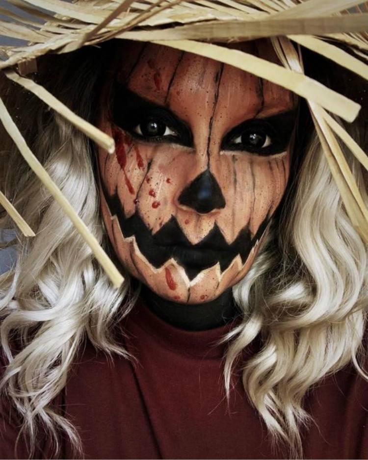 Creepy And Horrible Halloween Makeup Ideas You Must Love; Halloween Makeup; Halloween; Clown Halloween Makeup; Skeleton Halloween Makeup; Pumpkin Halloween Makeup;#halloween#halloweenmakeup#makeup#scarymakeup#skeletonmakeup#clownmakeup#pumpkinmakeup