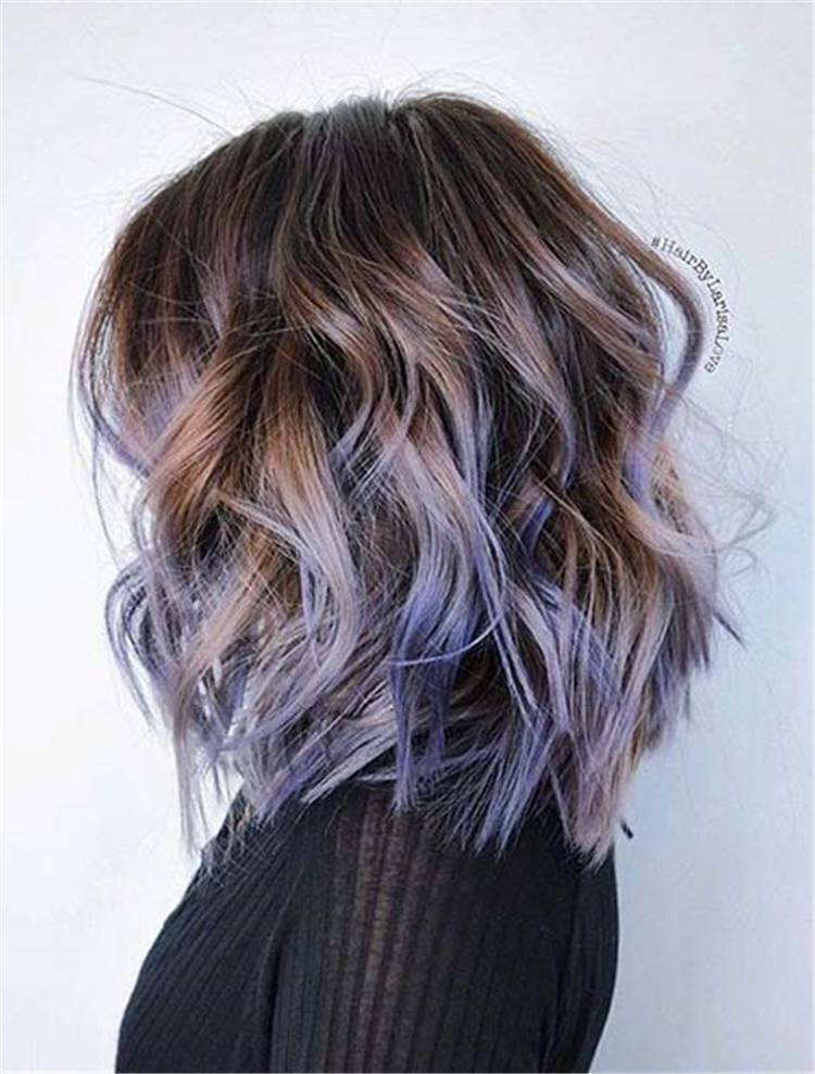 Chic And Gorgeous Brown Hair With Highlights For You; Hair Color; Hair Highlights; Brown Hair; Brown Hair Highlights; Blonde Highlights; Red Highlights; Purple Highlights #hair #haircolor #hairhighlights #highlights #redhighlights #purplehighlights #blondehighlights #brownhair