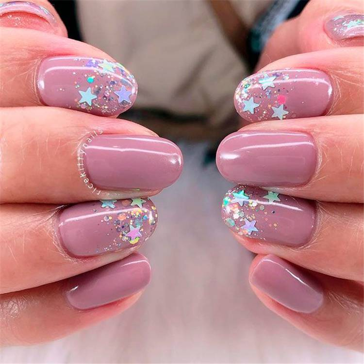 Stunning And Gorgeous Mauve Color Nail Designs For You; Nails; Nail Design; Mauve Nail Color; Nail Color; Mauve Coffin Nails; Mauve Square Nails; Mauve Oval Nails;#nails#naildesign#mauvenail#mauvenaildesign#mauvecolor #coffinnails #squarenails